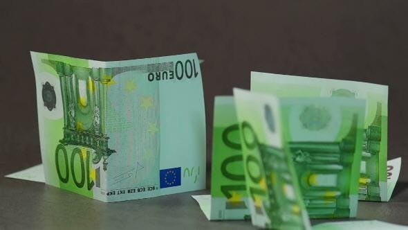 Cover Image for Falling Euro Banknotes