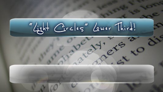 Thumbnail for Light Circles LOWER THIRD