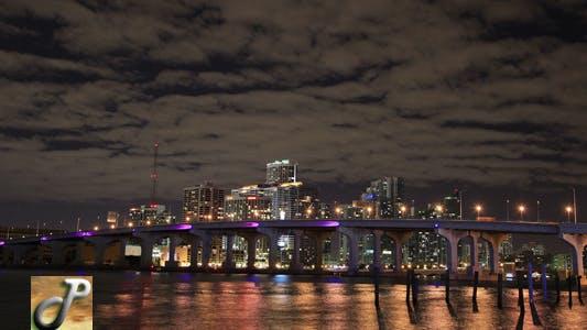 Thumbnail for Miami skyline at Night