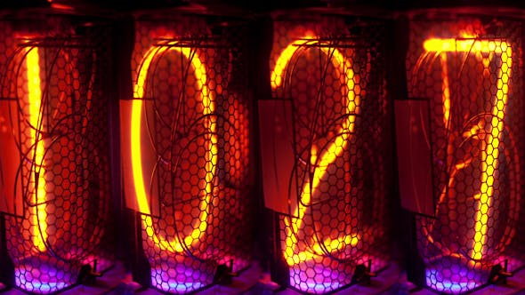 Thumbnail for Nixie Clock Numerical Counter 26