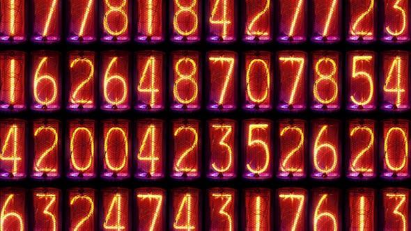 Thumbnail for Nixie Clock Numerical Counter Videowall 10