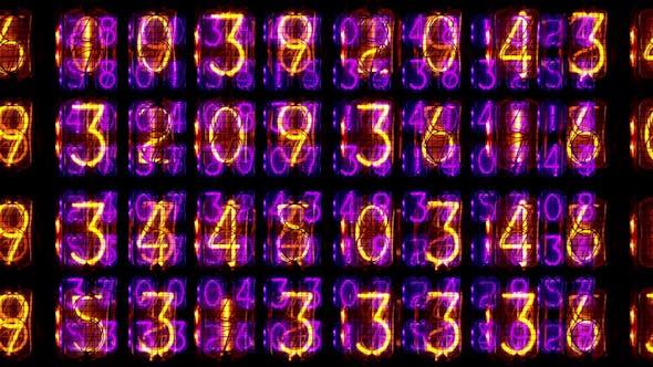 Thumbnail for Nixie Clock Numerical Counter Videowall 2