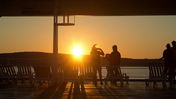 Thumbnail for Sunset At The Ferry Vacations Travel 1
