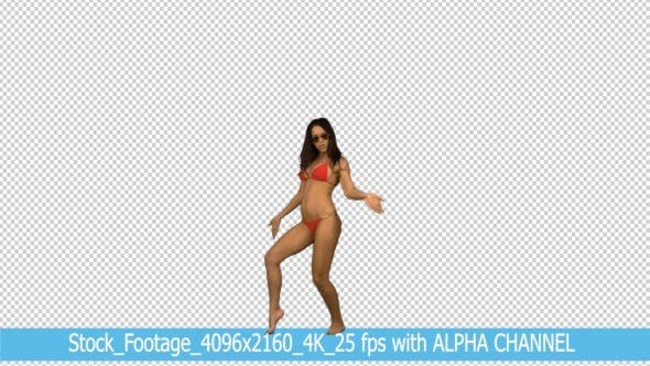 Thumbnail for Bikini Dance Woman with Alpha Channel