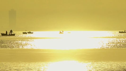 Thumbnail for Sunset and Fishing Boats