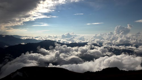 Cloudy Sky Above the Clouds Mountain Peak