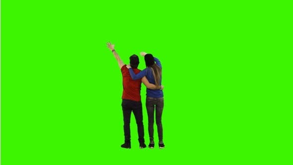 Thumbnail for Football Fans on Green Screen