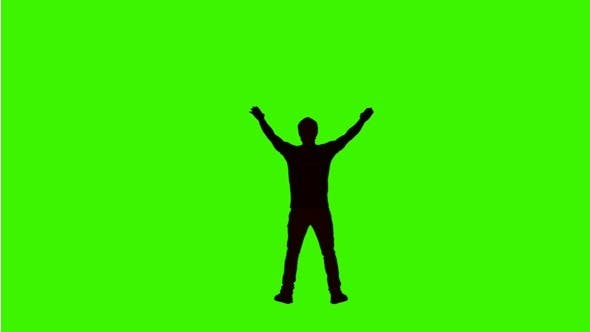 Thumbnail for Sports Fan Cheering on Green Screen