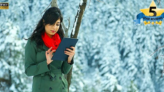 Cover Image for Using Tablet in Winter