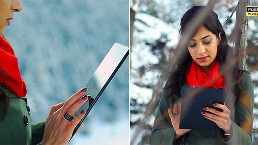 Thumbnail for Using Digital Tablet in Winter