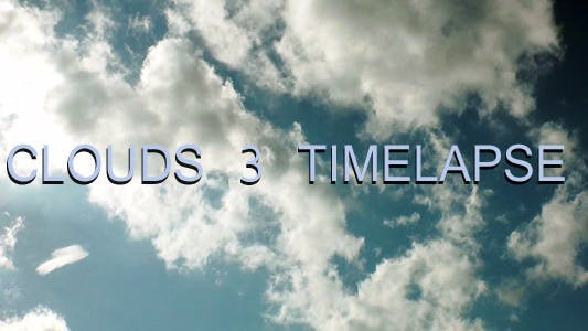 Thumbnail for Clouds 3 Timelapse