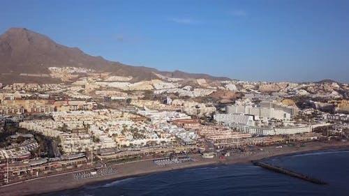 Aerial View of Playa De Las America, Tenerife