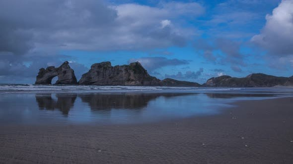 Thumbnail for Wharariki Beach with rock arch