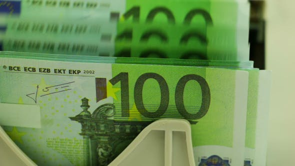 Thumbnail for Banknote Counter and Stack of 100 Euro