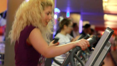 Girl Doing Sports In A Gym, Fitness Center 3
