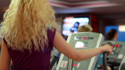 Girl Doing Sports In A Gym, Fitness Center 4