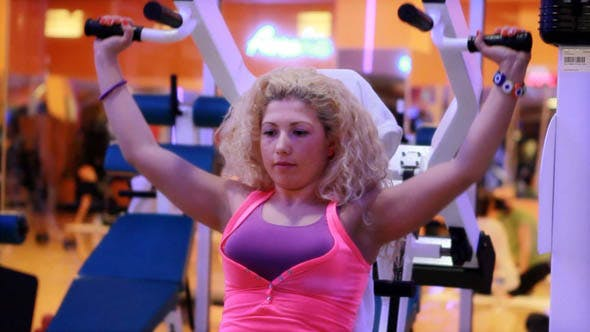 Girl Doing Sports In A Gym, Fitness Center 18