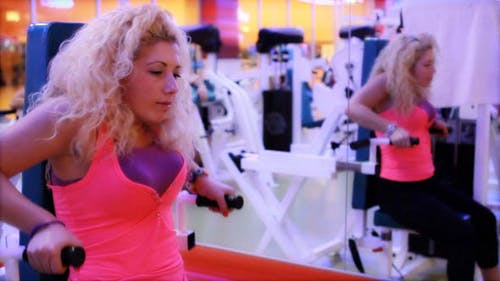 Girl Doing Sports In A Gym, Fitness Center 19