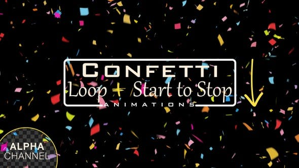 Thumbnail for Celebration Confetti Falling