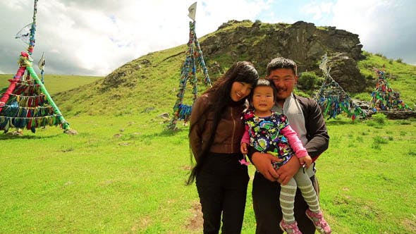 Thumbnail for Mongolian Family In Front Of Shaman Adak
