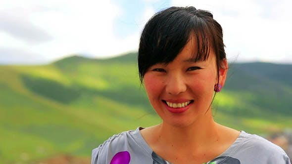 Cheerful Mongolian Woman