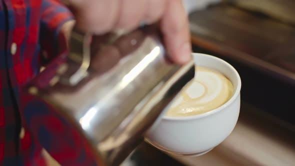 Herstellung von Cappuccino