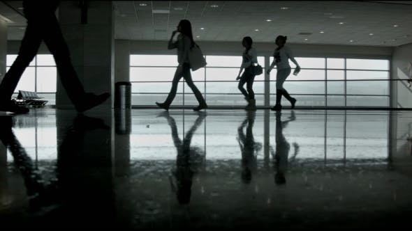 Thumbnail for Silhouettes at the Airport