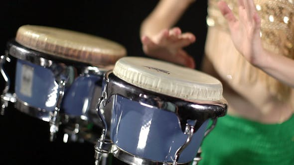 Thumbnail for Female Percussion Drummer Performing With Bongos 15