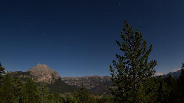 Thumbnail for Full Moon Nighttime Mountain Range 2