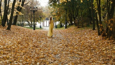 Romantic Woman Walking