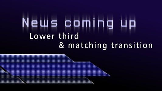 Thumbnail for Neuigkeiten kommen - Unteres Drittel & Transition Pack