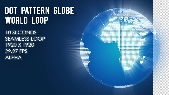 Dot Pattern Globe World