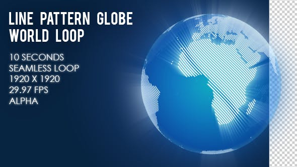 Line Pattern Globe World
