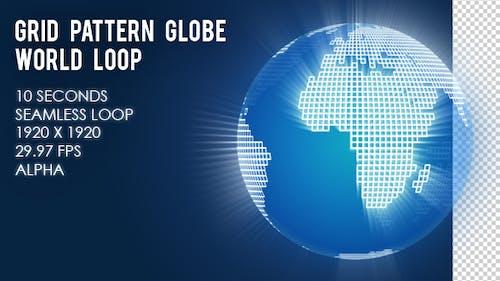 Grid Pattern Globe World