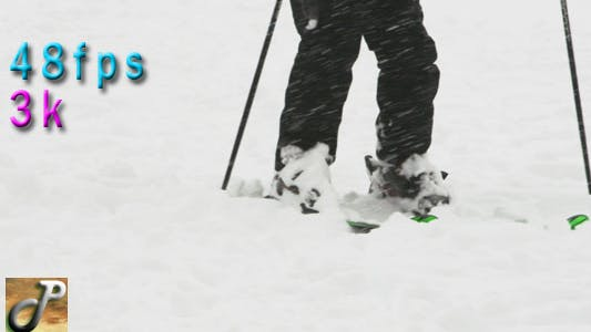Thumbnail for Skiing At The Park While Snow Falls