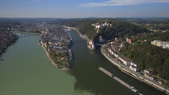 Thumbnail for Passau City in Germany Aerial Overview