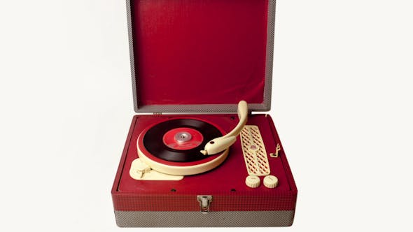 Thumbnail for Portable Vintage Record Player 1