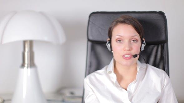 Thumbnail for Pretty Customer Service Operator Or Secretary 6