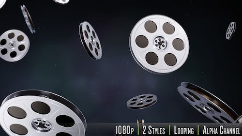 Projection Movie Reel Backdrops