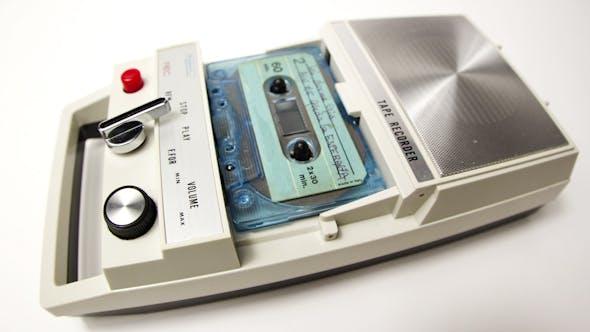 Thumbnail for Vintage Cassette Tape Recorder 1
