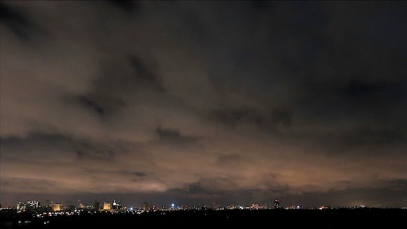 Thumbnail for Night Sky And Clouds Over The City
