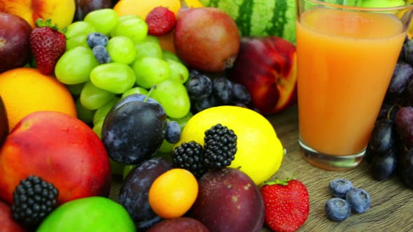 Thumbnail for Fresh Juice and a Bunch of Fruit