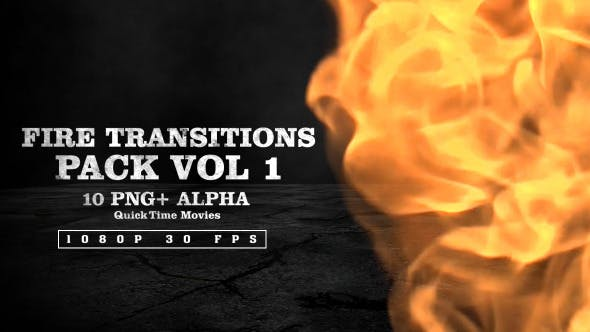 Thumbnail for Fire Transitions Pack Vol 1