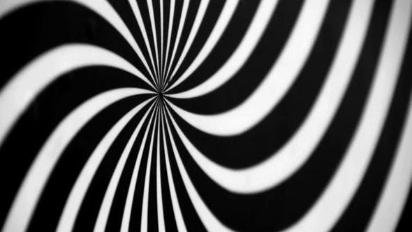 Thumbnail for Black and White Spiral Spinning Left Defocused