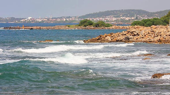 Thumbnail for Mediterranean Sea With Waves Landscape In Turkey