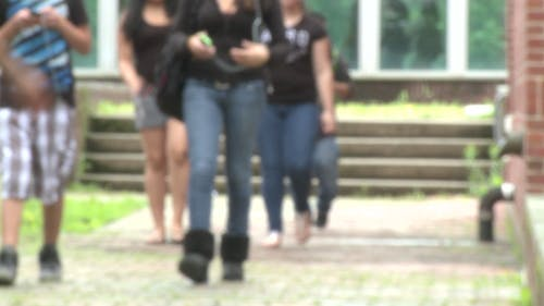 Junior High Students Leaving School (1 Of 5)