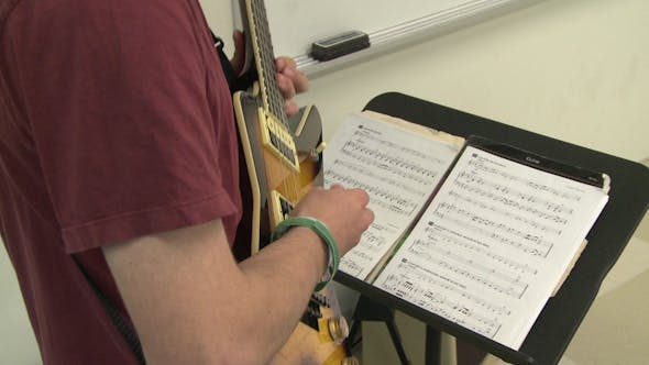 Students Reading Sheet Music In Class (9 Of 9)