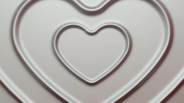 Abstract 3d Silver Heats Render Background Loop