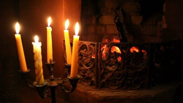 Thumbnail for Fireplace with Candles