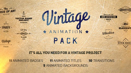 Vintage Animation Pack